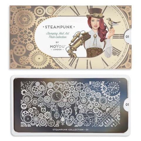 Moyou London Nail Art Stamping Steampunk 01 Plate