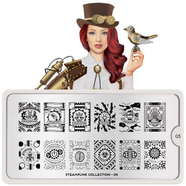 Moyou London Nail Art Stamping Steampunk 05 Plate