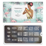 Daily Charme Nail Supply Nail Art Moyou London Stamping plate Tropical 24