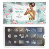 Daily Charme Nail Supply Nail Art Moyou London Stamping plate Tropical 30