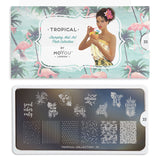 Daily Charme Nail Supply Nail Art Moyou London Stamping plate Tropical 33