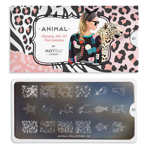 Daily Charme Nail Art Stamping Moyou London Animal 01