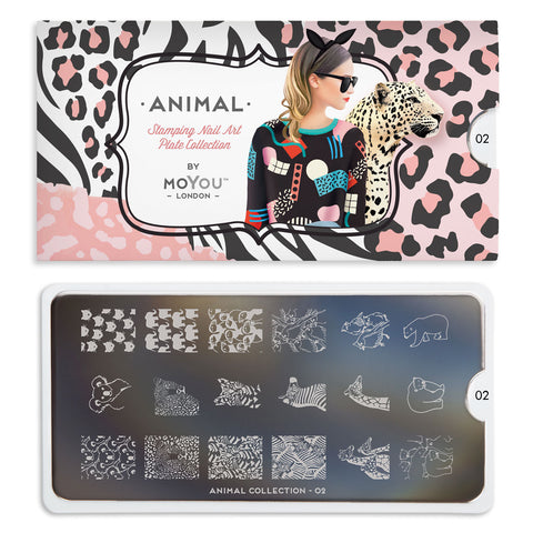 Daily Charme Nail Art Stamping Moyou London Animal 02