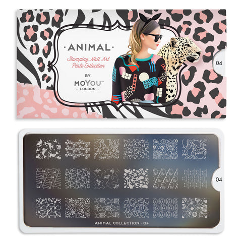 Daily Charme Nail Art Stamping Moyou London Animal 04