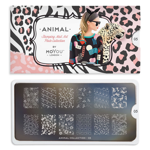 Daily Charme Nail Art Stamping Moyou London Animal 05