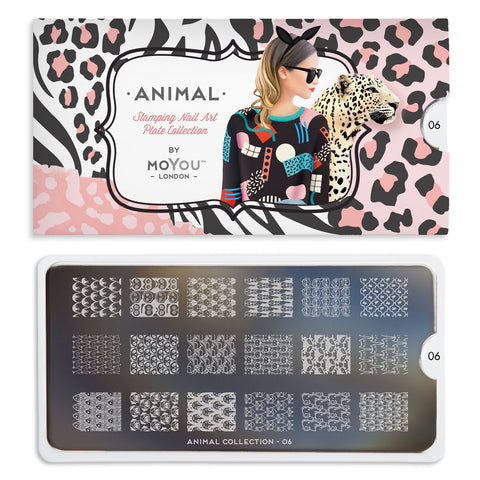 Daily Charme Nail Art Stamping Moyou London Animal 06