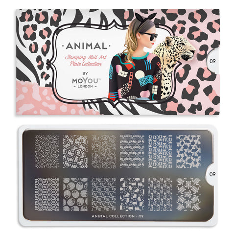 Daily Charme Nail Art Stamping Moyou London Animal 09