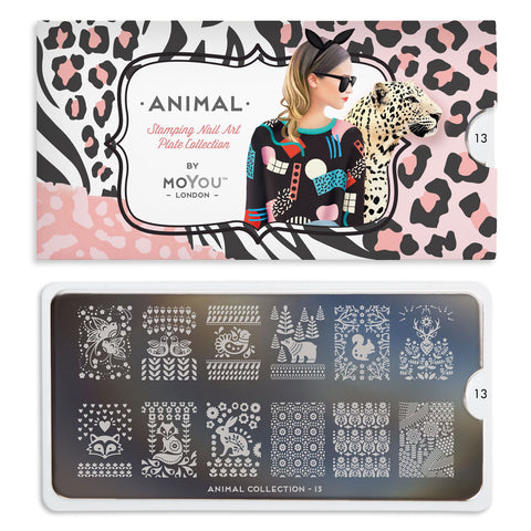 Daily Charme Nail Art Stamping Moyou London Animal 13