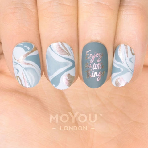 Daily Charme DIY Moyou London Nail Stamping Plate Artist 30 Marble