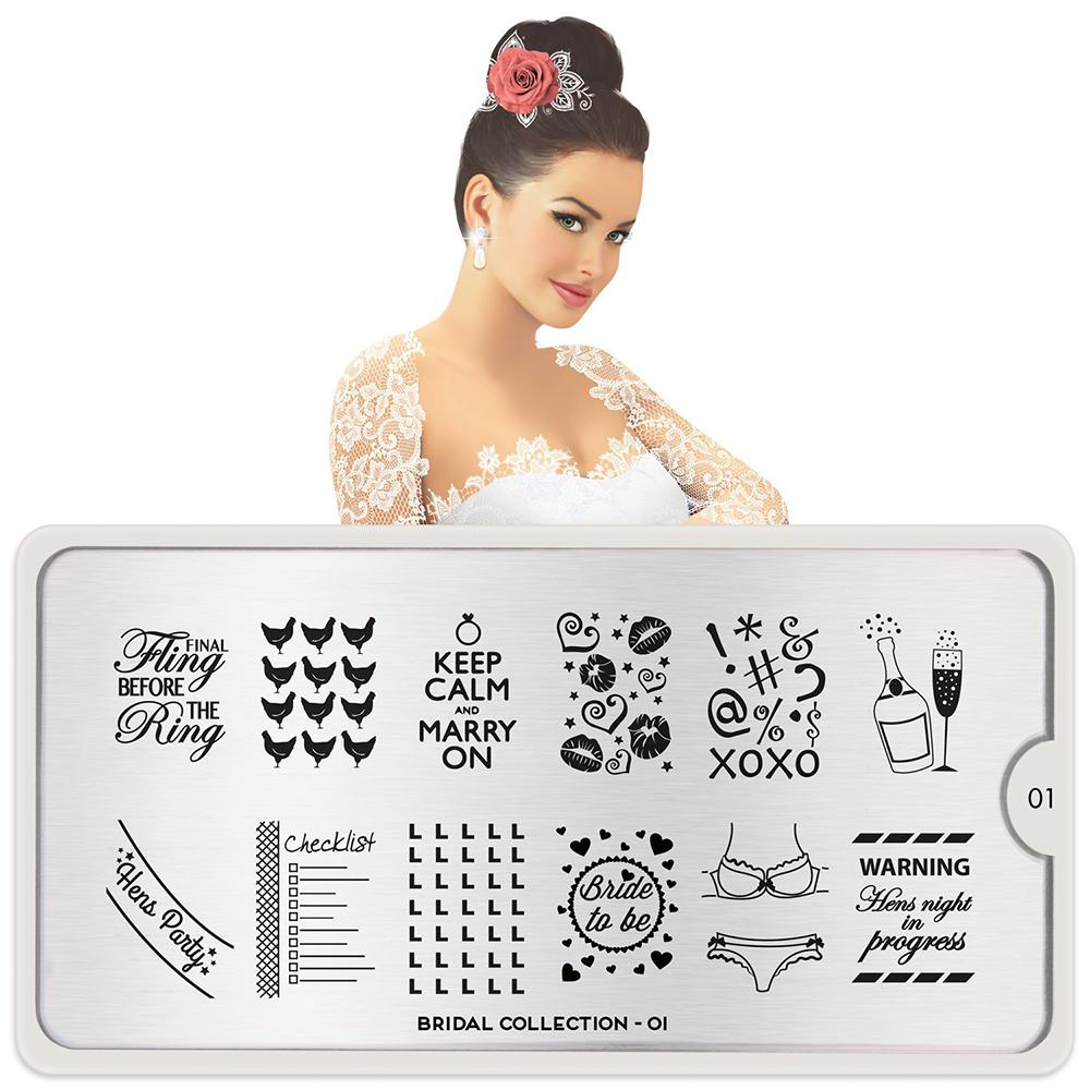 Daily Charme Nail Stamping - Moyou London Stamping Plate Bridal 01