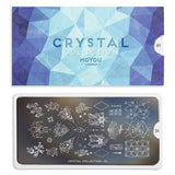 Daily Charme Moyou London Nail Art Stamping Plate Crystal 01