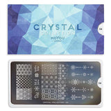 Daily Charme Moyou London Nail Art Stamping Plate Crystal 04