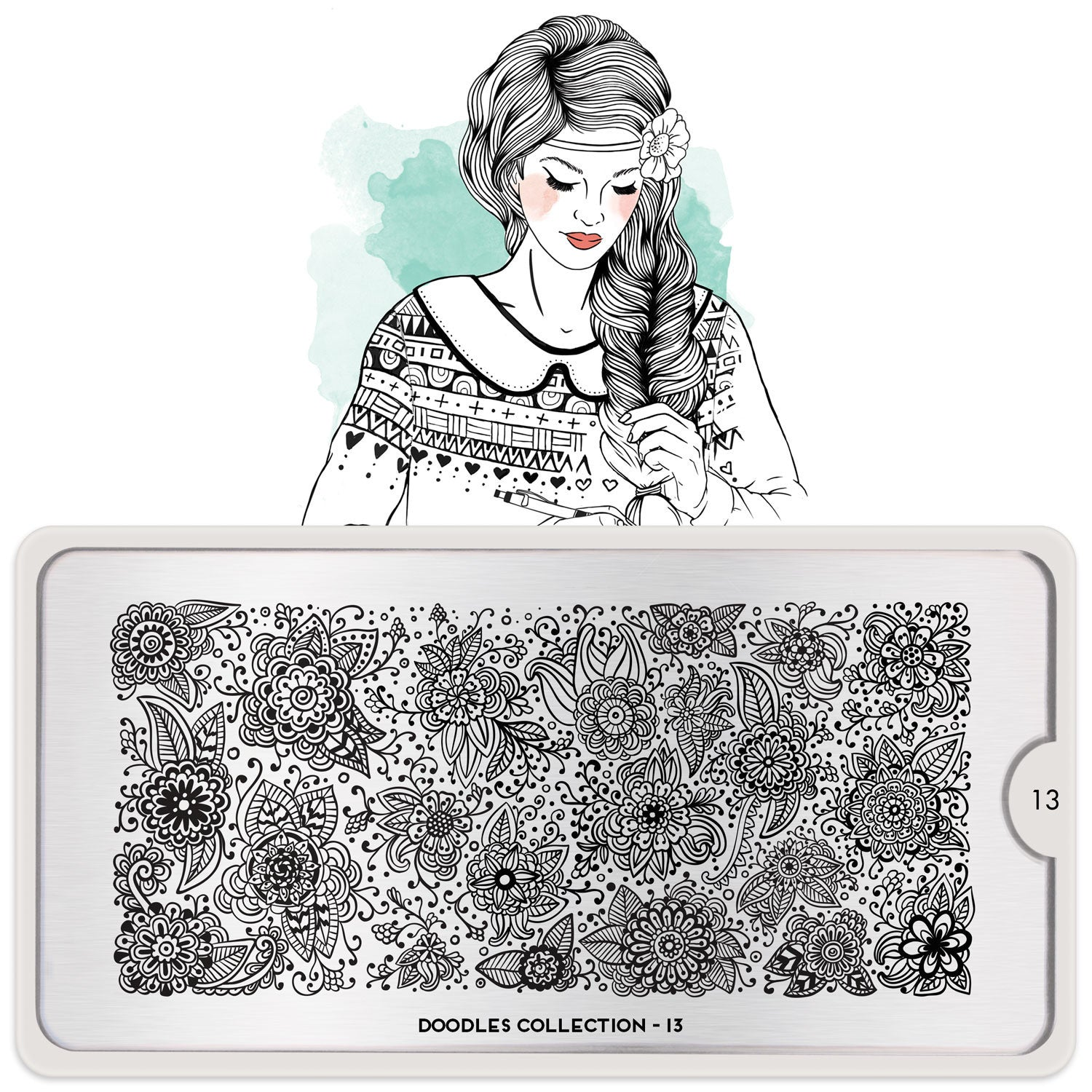 Daily Charme Moyou London Nail Art Stamping Plate Doodle 13