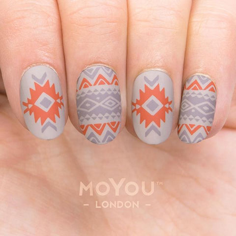 Daily Charme Nail Art Stamping Plate Moyou London Explorer 30 - Tribal