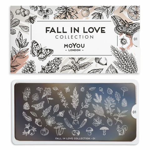 Daily Charme Stamping Plate Moyou London Fall In Love 01 Autumn Forest
