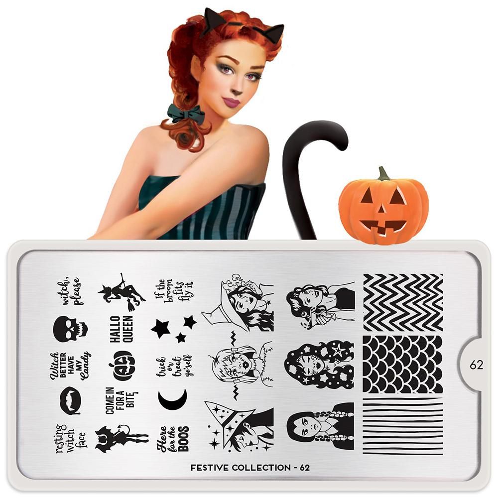 Nail Stamping Plate  MoYou Festive 62 - Witch Queens