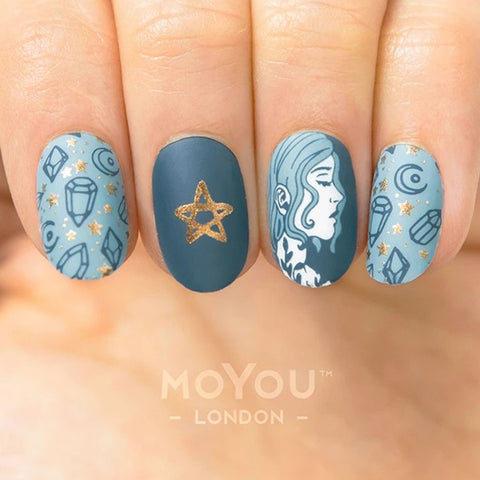 Daily Charme Nail Art Stamping Plate Moyou London Halloween 01 - Black Magic