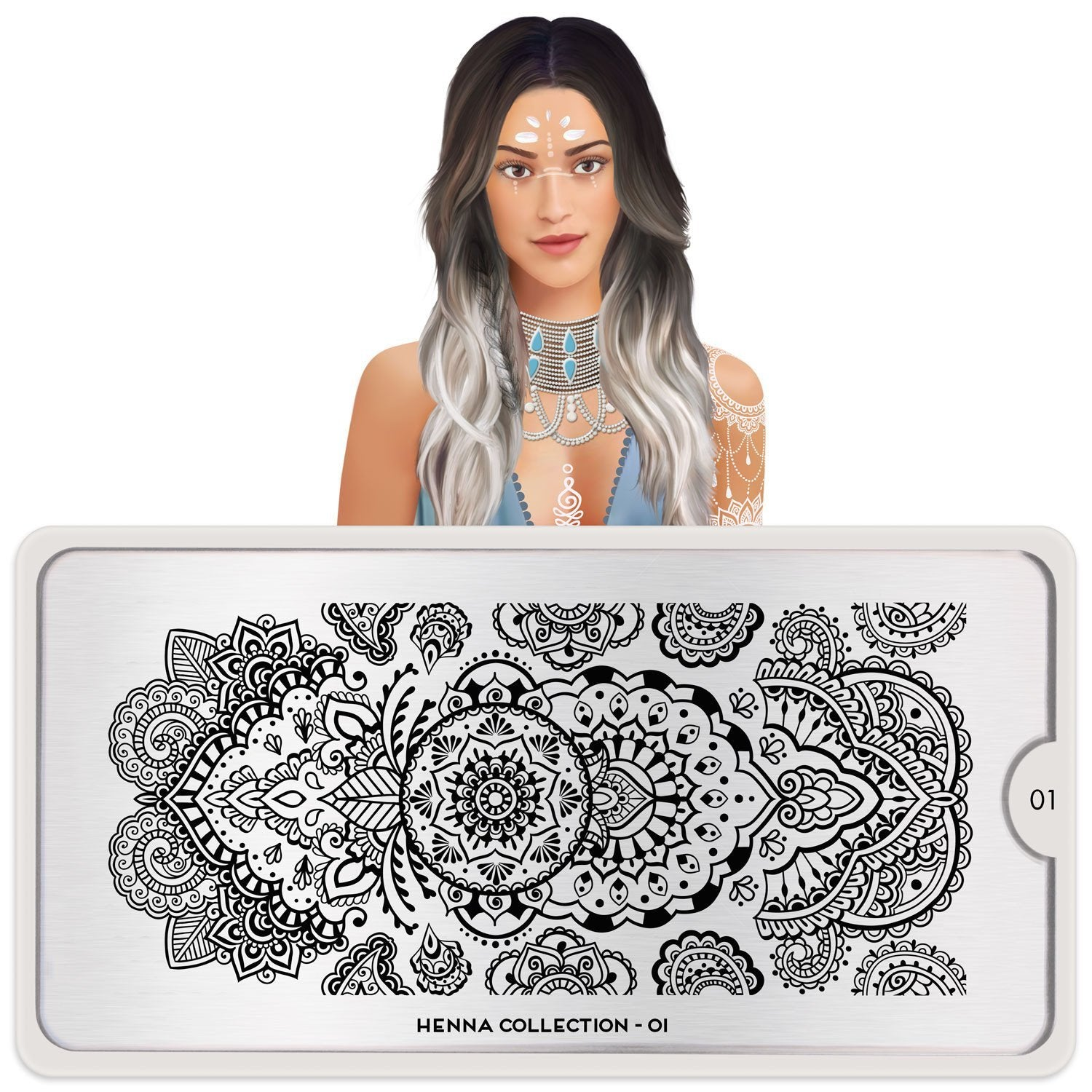 Daily Charme Nail Art Stamping Plate Moyou London Henna 1