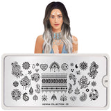 Daily Charme Nail Art Stamping Plate Moyou London Henna 09 - Figure Art