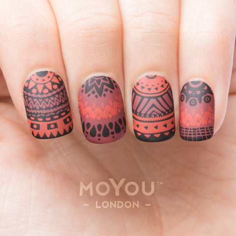 Daily Charme Moyou London Nail Stamping Plate Kaleidoscope 12