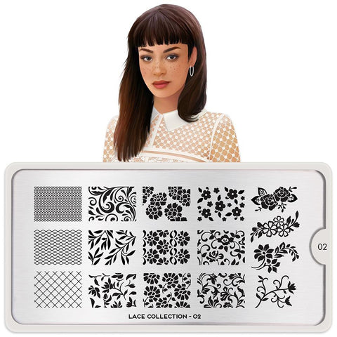 Daily Charme Moyou London Nail Stamping Plate Lace 02