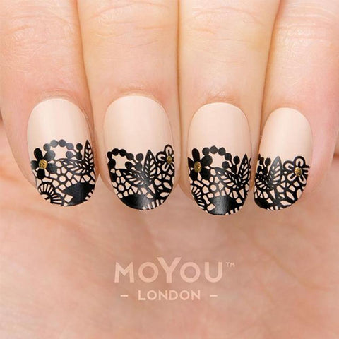 Daily Charme Moyou London Nail Stamping Plate Lace 05