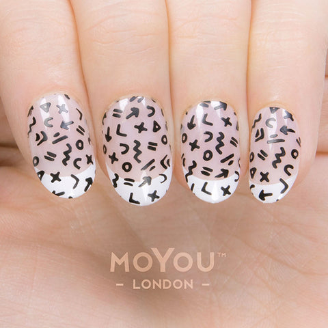 Daily Charme Moyou London Nail Art Stamping Plate Minimal 06