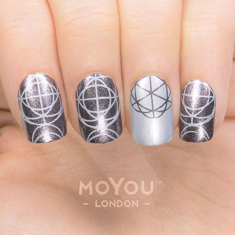 Daily Charme Moyou London Nail Art Stamping Plate Minimal 01