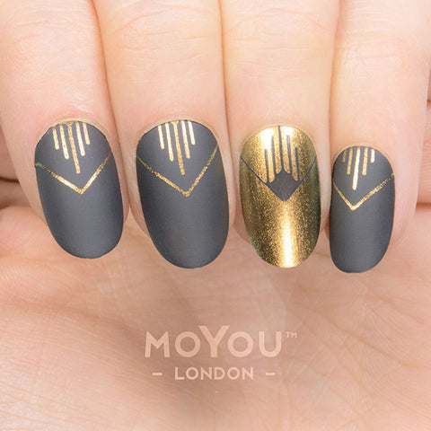 Daily Charme Moyou London Nail Art Stamping Plate Minimal 04