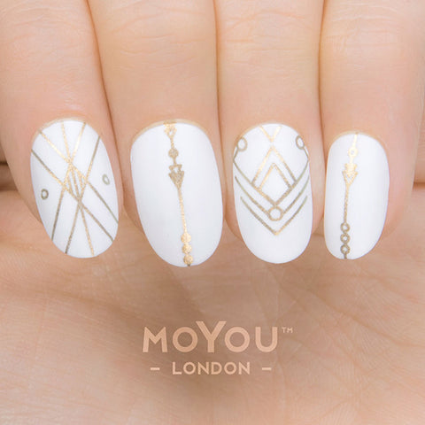 Daily Charme Moyou London Nail Art Stamping Plate Minimal 05