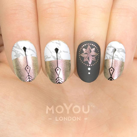 Daily Charme Moyou London Nail Art Stamping Plate Minimal 14