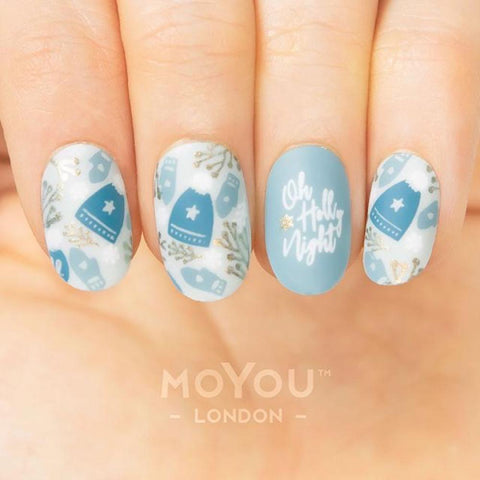 MoYou London Stamping Plate Nail Art Noel 04 - Oh Holy Night