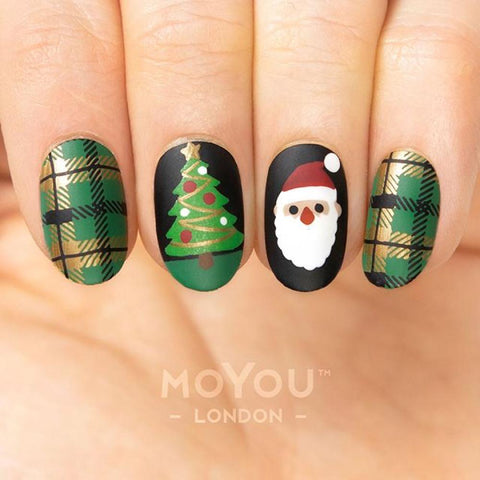 MoYou London Stamping Plate Nail Art Noel 05 - Holiday Elements