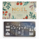 MoYou London Stamping Plate Nail Art Noel 06 - Frosty Aurora