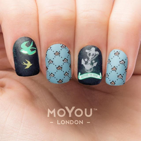 Moyou London Nail Art Stamping Sailor 13 - Patterns Palettes Large