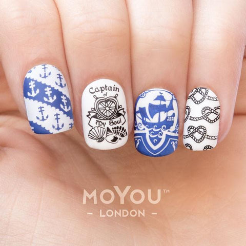 Moyou London Nail Art Stamping Sailor 15 - Wallpaper Palettes Large