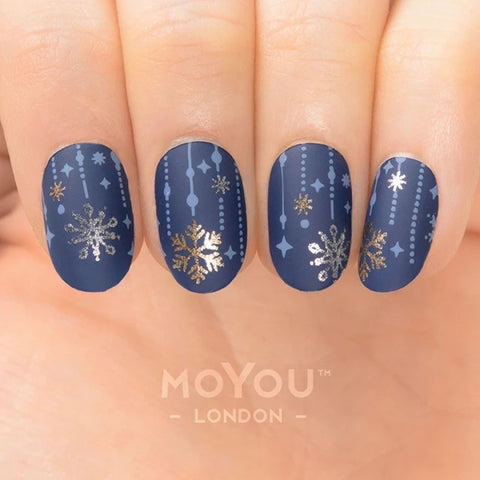 Snow 03 - Snowflake Chandeliers MoYou London Nail Art Stamping Plate