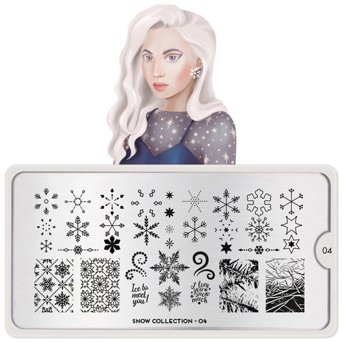 Snow 04 - Ice to Meet You! MoYou London Nail Stamping Plate