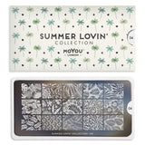 Daily Charme Nail Art Stamping Plate Moyou London Summer Lovin' 04 - Tropical Leaf