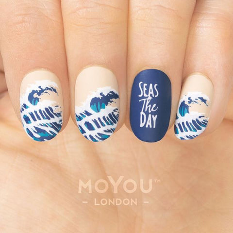 Daily Charme Nail Art Stamping Plate Moyou London Summer Lovin' 06 - Ocean Waves