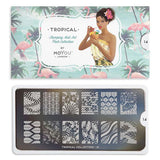 Tropical 14 - Hawaiian Palettes Big MoYou Stamping Plate