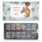 Tropical 18 - Floral Pattern Palettes Large MoYou Stamping Plate