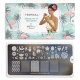 Daily Charme Nail Supply Nail Art Stamping Plate Tropical 34