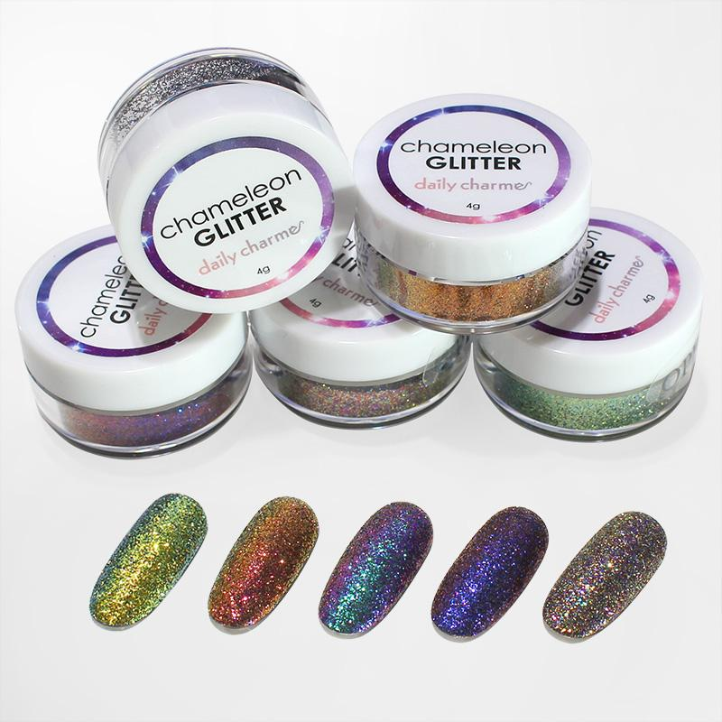 Nail Art Chameleon Color Shifting Glitter / 5 Colors