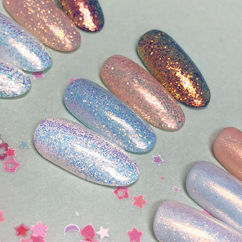 Aurora Fairy Dust Magic Glitter Rainbow Nail Art Supplies