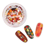 Fall Maple Leaf 5MM Glitter Mix Nail Art Gold Silver Orange