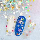 Winter Wonderland Glitter Mix / Little Bright Star Nail Art Design New Year