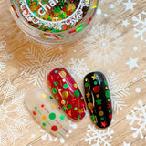 Festive Holiday Glitter Mix / Deck the Halls Holo Tinsel Bars Dots Stars Nail Art