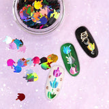 Flip the Bird Glitter Middle Finger / Holographic Mix for Nail Art