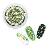 Chameleon Glitter Hex Mix / Hypernova Lime Gold Nail Art Supplies